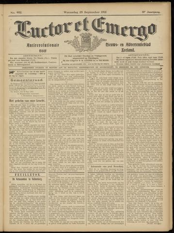 Luctor et Emergo. Antirevolutionair nieuws- en advertentieblad voor Zeeland / Zeeuwsch-Vlaanderen. Orgaan ter verspreiding van de christelijke beginselen in Zeeuwsch-Vlaanderen 1912-09-25
