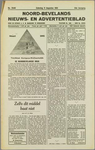 Noord-Bevelands Nieuws- en advertentieblad 1951-08-11