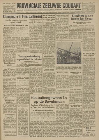 Provinciale Zeeuwse Courant 1949-02-24
