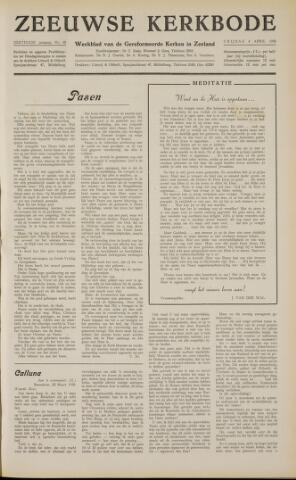 Zeeuwsche kerkbode, weekblad gewijd aan de belangen der gereformeerde kerken/ Zeeuwsch kerkblad 1958-04-04