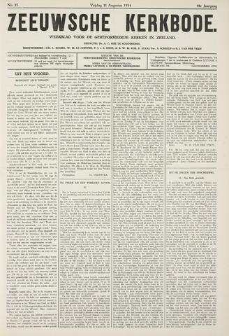 Zeeuwsche kerkbode, weekblad gewijd aan de belangen der gereformeerde kerken/ Zeeuwsch kerkblad 1934-08-31