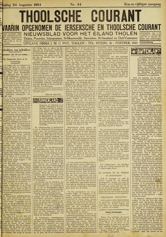 Ierseksche en Thoolsche Courant 1934-08-24