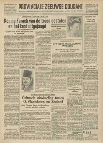 Provinciale Zeeuwse Courant 1952-07-28