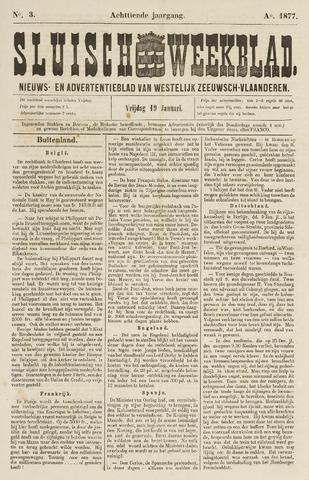 Sluisch Weekblad. Nieuws- en advertentieblad voor Westelijk Zeeuwsch-Vlaanderen 1877-01-19