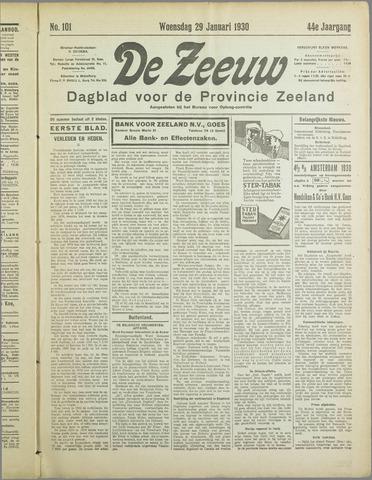 De Zeeuw. Christelijk-historisch nieuwsblad voor Zeeland 1930-01-29