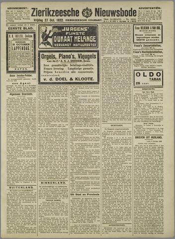 Zierikzeesche Nieuwsbode 1922-10-27