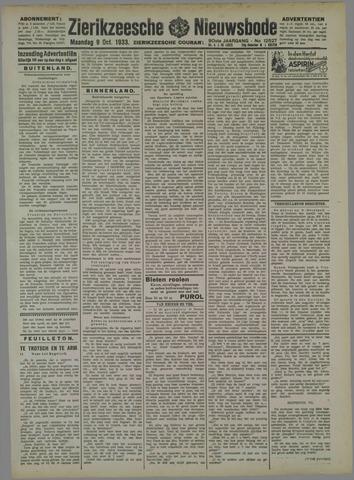 Zierikzeesche Nieuwsbode 1933-10-09