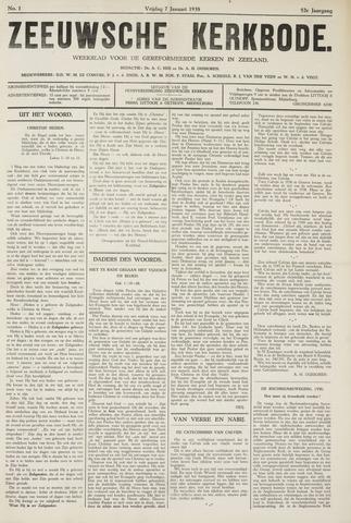 Zeeuwsche kerkbode, weekblad gewijd aan de belangen der gereformeerde kerken/ Zeeuwsch kerkblad 1938-01-07