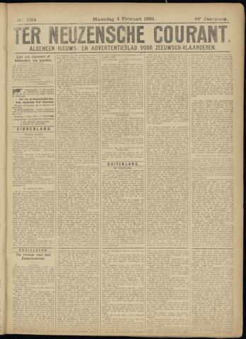Ter Neuzensche Courant. Algemeen Nieuws- en Advertentieblad voor Zeeuwsch-Vlaanderen / Neuzensche Courant ... (idem) / (Algemeen) nieuws en advertentieblad voor Zeeuwsch-Vlaanderen 1924-02-04