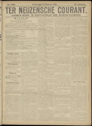 Ter Neuzensche Courant. Algemeen Nieuws- en Advertentieblad voor Zeeuwsch-Vlaanderen / Neuzensche Courant ... (idem) / (Algemeen) nieuws en advertentieblad voor Zeeuwsch-Vlaanderen 1920-02-19
