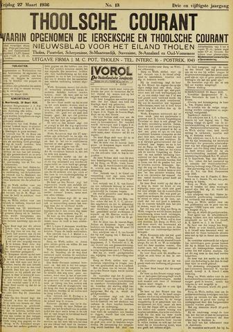 Ierseksche en Thoolsche Courant 1936-03-27