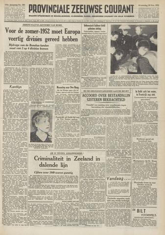 Provinciale Zeeuwse Courant 1951-11-28