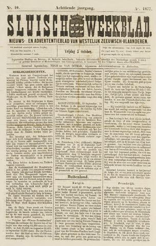 Sluisch Weekblad. Nieuws- en advertentieblad voor Westelijk Zeeuwsch-Vlaanderen 1877-10-05