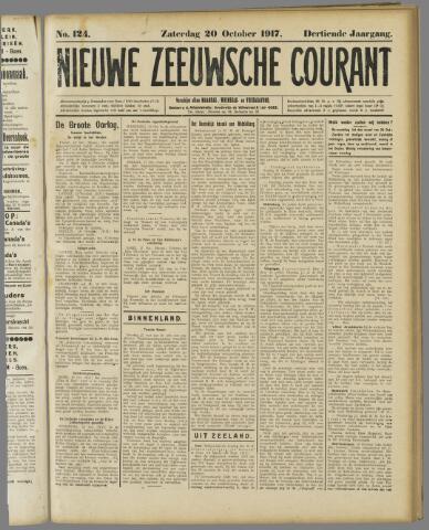 Nieuwe Zeeuwsche Courant 1917-10-20
