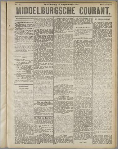 Middelburgsche Courant 1921-09-15