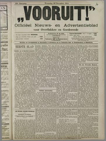"""""""Vooruit!""""Officieel Nieuws- en Advertentieblad voor Overflakkee en Goedereede 1915-12-29"""