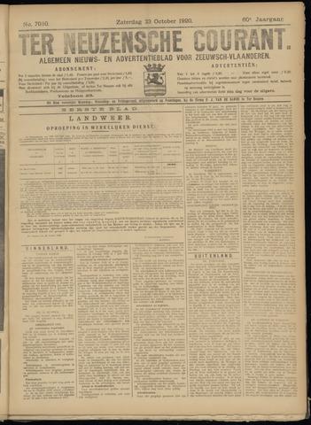 Ter Neuzensche Courant. Algemeen Nieuws- en Advertentieblad voor Zeeuwsch-Vlaanderen / Neuzensche Courant ... (idem) / (Algemeen) nieuws en advertentieblad voor Zeeuwsch-Vlaanderen 1920-10-23