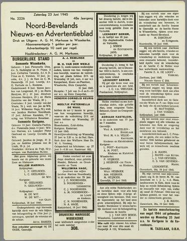 Noord-Bevelands Nieuws- en advertentieblad 1945-06-23