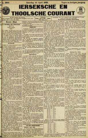 Ierseksche en Thoolsche Courant 1923-04-14