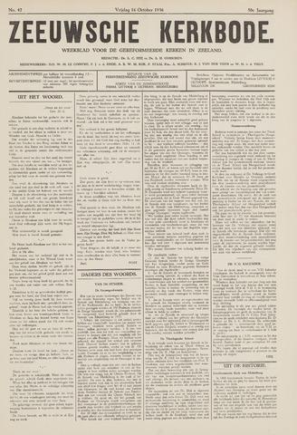 Zeeuwsche kerkbode, weekblad gewijd aan de belangen der gereformeerde kerken/ Zeeuwsch kerkblad 1936-10-16
