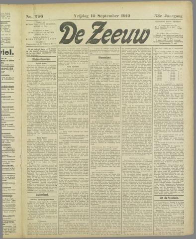 De Zeeuw. Christelijk-historisch nieuwsblad voor Zeeland 1919-09-19