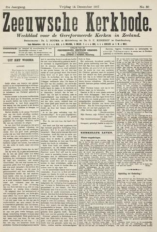 Zeeuwsche kerkbode, weekblad gewijd aan de belangen der gereformeerde kerken/ Zeeuwsch kerkblad 1917-12-14