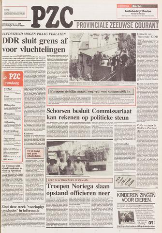 Provinciale Zeeuwse Courant 1989-10-04