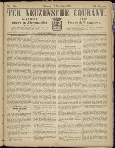Ter Neuzensche Courant. Algemeen Nieuws- en Advertentieblad voor Zeeuwsch-Vlaanderen / Neuzensche Courant ... (idem) / (Algemeen) nieuws en advertentieblad voor Zeeuwsch-Vlaanderen 1883-11-10