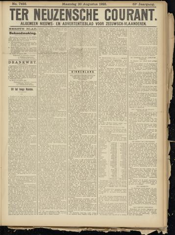 Ter Neuzensche Courant. Algemeen Nieuws- en Advertentieblad voor Zeeuwsch-Vlaanderen / Neuzensche Courant ... (idem) / (Algemeen) nieuws en advertentieblad voor Zeeuwsch-Vlaanderen 1923-08-20