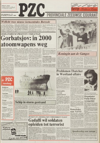 Provinciale Zeeuwse Courant 1986-01-16