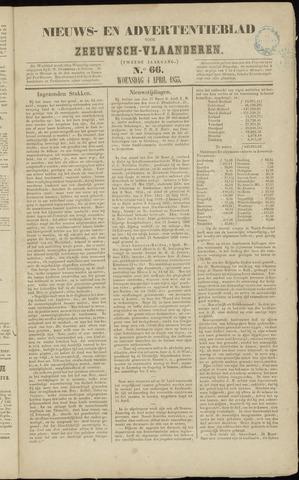 Ter Neuzensche Courant. Algemeen Nieuws- en Advertentieblad voor Zeeuwsch-Vlaanderen / Neuzensche Courant ... (idem) / (Algemeen) nieuws en advertentieblad voor Zeeuwsch-Vlaanderen 1855-04-04