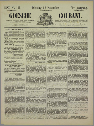 Goessche Courant 1887-11-29