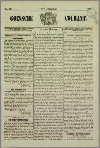 Goessche Courant 1854-07-17