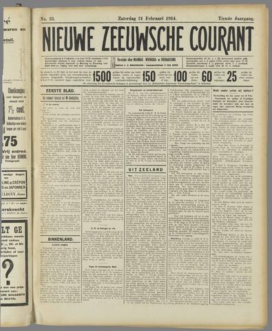 Nieuwe Zeeuwsche Courant 1914-02-21