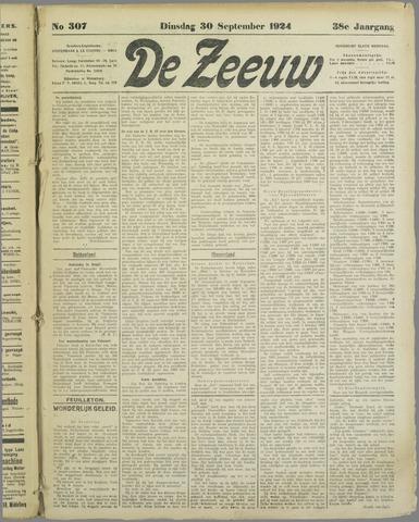 De Zeeuw. Christelijk-historisch nieuwsblad voor Zeeland 1924-09-30