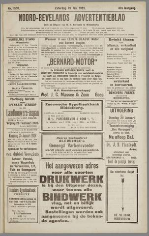 Noord-Bevelands Nieuws- en advertentieblad 1926-01-23