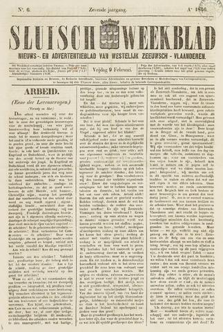 Sluisch Weekblad. Nieuws- en advertentieblad voor Westelijk Zeeuwsch-Vlaanderen 1866-02-09