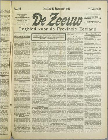 De Zeeuw. Christelijk-historisch nieuwsblad voor Zeeland 1930-09-30