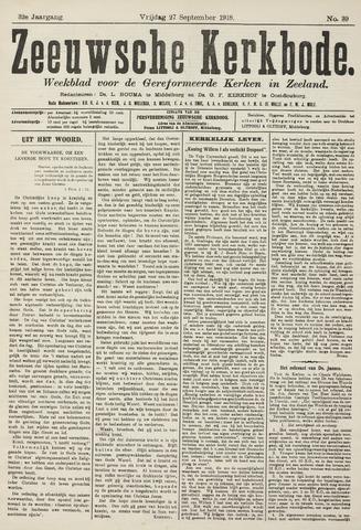 Zeeuwsche kerkbode, weekblad gewijd aan de belangen der gereformeerde kerken/ Zeeuwsch kerkblad 1918-09-27