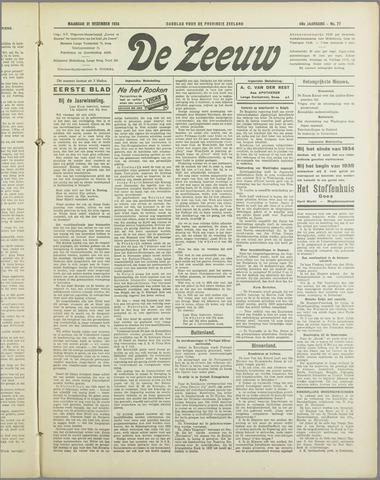 De Zeeuw. Christelijk-historisch nieuwsblad voor Zeeland 1934-12-31