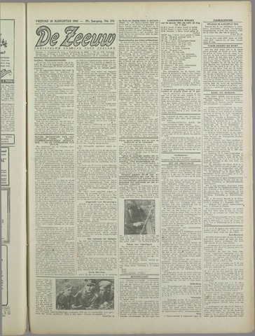 De Zeeuw. Christelijk-historisch nieuwsblad voor Zeeland 1943-08-20