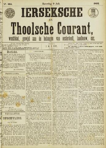 Ierseksche en Thoolsche Courant 1892-07-09