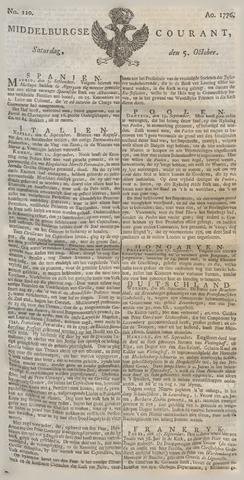 Middelburgsche Courant 1776-10-05