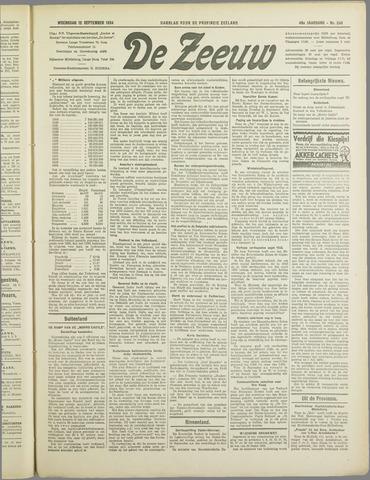 De Zeeuw. Christelijk-historisch nieuwsblad voor Zeeland 1934-09-12