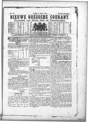 Nieuwe Goessche Courant 1874-04-03