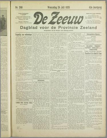 De Zeeuw. Christelijk-historisch nieuwsblad voor Zeeland 1929-07-24