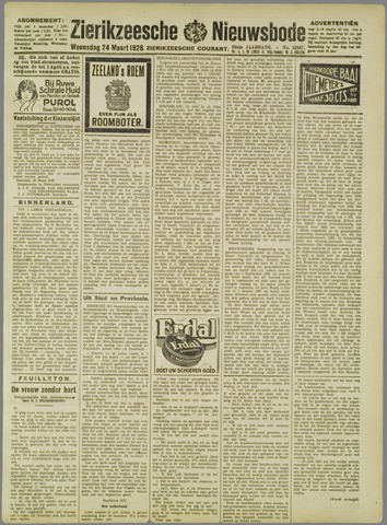 Zierikzeesche Nieuwsbode 1926-03-24