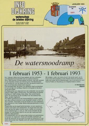 Watersnood documentatie 1953 - brochures 1993