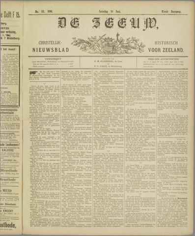 De Zeeuw. Christelijk-historisch nieuwsblad voor Zeeland 1896-06-20