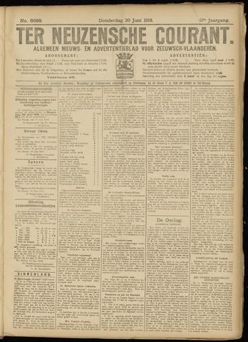 Ter Neuzensche Courant. Algemeen Nieuws- en Advertentieblad voor Zeeuwsch-Vlaanderen / Neuzensche Courant ... (idem) / (Algemeen) nieuws en advertentieblad voor Zeeuwsch-Vlaanderen 1918-06-20